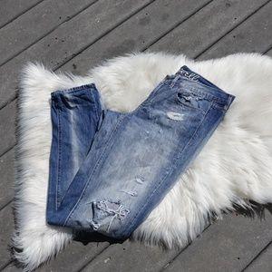 Madewell skinny jeans distressed medium wash 28